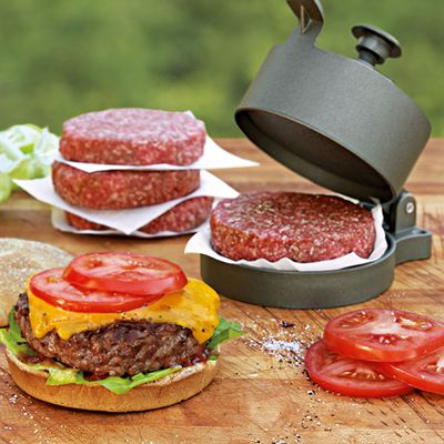 "Adjustable Nonstick Burger Press, $28, <a href=""http://www.williams-sonoma.com.au/Adjustable-Nonstick-Burger-Press"" target=""_blank"">Williams-Sonoma</a>"