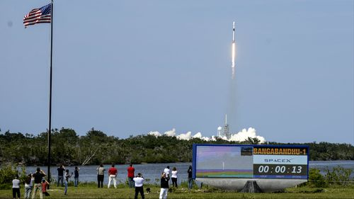 The updated SpaceX Falcon 9 rocket has made his debut launch in Florida. (AAP)
