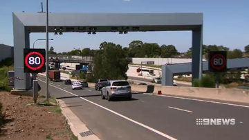 Toll gates have been installed at the Kong Georges Road on and off ramps, ready to charge motorists $6.69