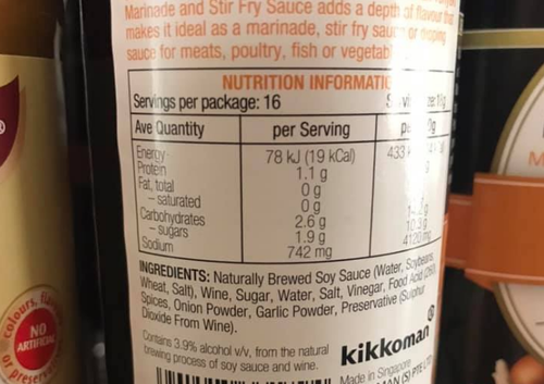 Soy sauce and some other condiments can contain low levels of alcohol because they are produced by fermentation, which can produce ethanol as a by-product.