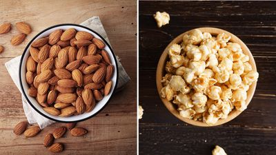 <strong>A quarter cup of almonds, or a cup of microwave popcorn?</strong>