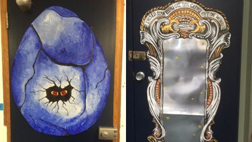 The class added a Hagrid's dragon egg and the Mirror of Erised to the room. (Christine Coleman)
