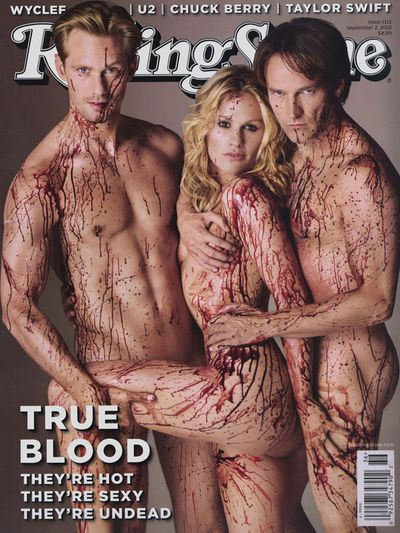 <p>Alexander Skarsgard, Anna Paquin, and Stephen Moyer, 2010</p>