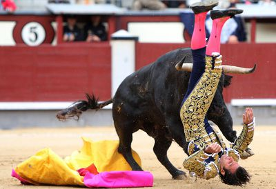 'The somersault was horrific, shocking, chilling, impossible for the human eye to witness yet evident to the mind,' El Pais bullfighting correspondent Antonio Lorca wrote.