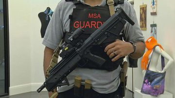 The MSA 'guardians' will monitor the school's halls with a 9-millimeter handgun and semi-automatic rifle.