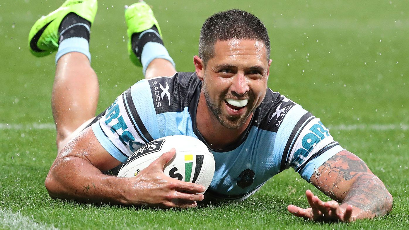 Gerard Beale stars for the Sharks in 2016. (Getty)