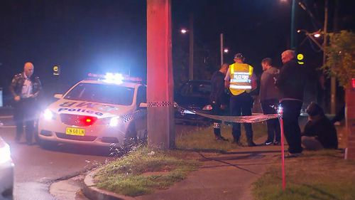 The woman was injured after falling onto the footpath attempting to get back into her van. Picture: 9NEWS