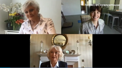The Duchess of Cornwall joins in on a video chat from isolation.