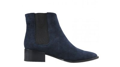 """<a href=""""http://www.wittner.com.au/padma-navy.html """"> Padma Navy Suede Boot, $199.95, Wittner </a>"""