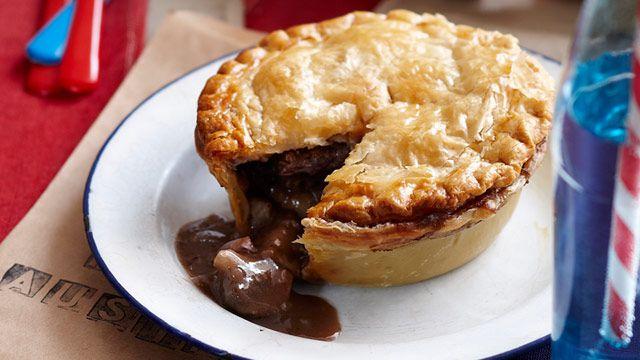 Beef and Aussie shiraz pies