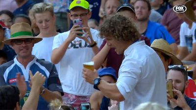 Nick 'Honey Badger' Cummins delights fans at Brisbane Global Rugby Tens