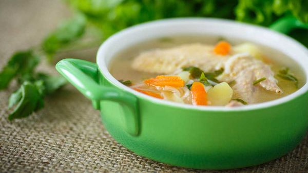 Stock based wholefood soup