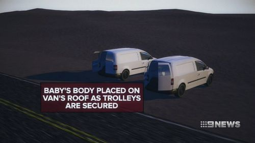 He didn't realise the body was missing until he arrived in Brisbane.
