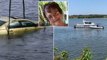 Mother and son dead after car plunged backwards into river