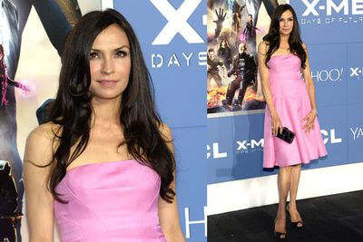 Famke, who plays Jean Grey in the <i>X-Men</i> series.