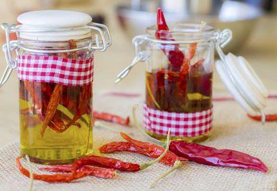 "Recipe:&nbsp;<a href=""/recipes/other/8344094/chilli-oil"" target=""_top"">Chilli oil<br /> </a>"