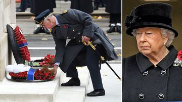 Charles steps in for the Queen at Remembrance ceremony