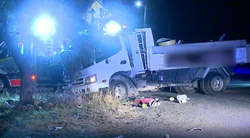 A truck driver has survived after he was thrown from the vehicle following a smash in West Hoxton overnight.