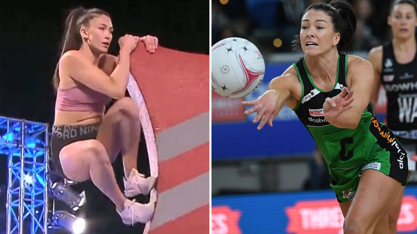 'My appendix actually burst': Netball star Verity Charles reveals silent battle to compete at Ninja Warrior