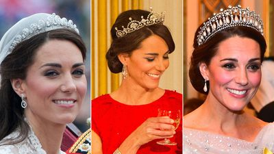 The tiaras worn by Catherine, the Duchess of Cambridge