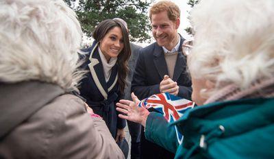Prince Harry and Meghan Markle meet fans