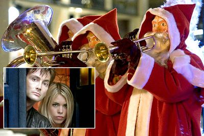 And you thought <I>your</I> holidays were stressful. In the 2005 Christmas special 'The Christmas Invasion', companion Rose (Billie Piper) has to care for a newly regenerated Doctor (David Tennant) <I>and</I> ward off an attack from nefarious robot Santas that are being controlled by scary-looking aliens. The Santas make a comeback in the 2006 Christmas special 'The Runaway Bride', under the control of a different but equally scary extraterrestrial.