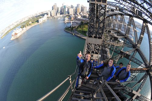 Scenic World won the $50-million dollar a year contract, with promises of new climb routes and new technology. Picture: BridgeClimb