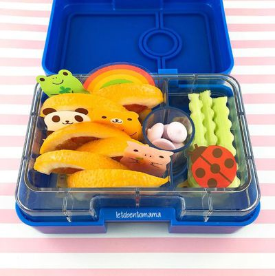A bright and cute snack box made by mum Jodie, at Lets Bento Mama.