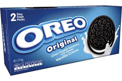 Oreo Original Cookie: 47 calories/198kj per biscuit