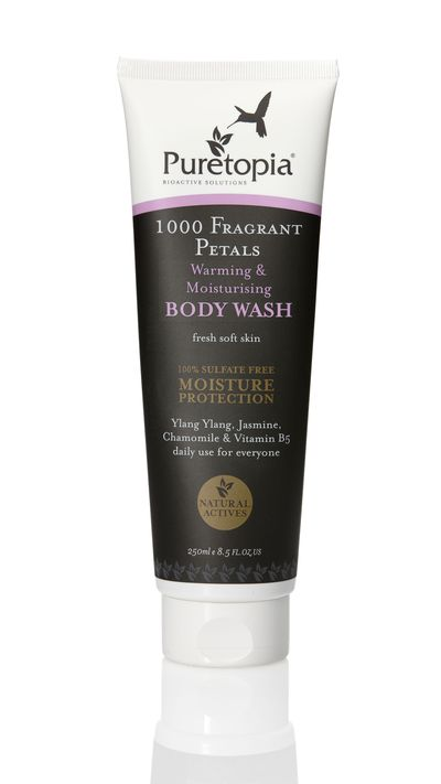 "<p><em><a href=""http://www.mypuretopia.com/1000-fragrant-petals-warming-moisturising-body-wash-250ml"" target=""_blank"">Puretopia 1000 Fragrant Petals Warming & Moisturising Body Wash</a></em>- The fragrance will wake you up, while the aloe vera keeps skin smooth. </p>"