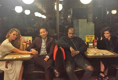 Not even waffles can make Kanye West smile...