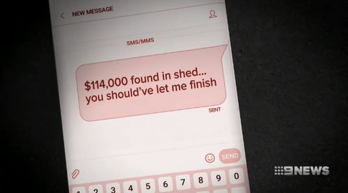 Dwyer texted Burns about the money. (9NEWS)