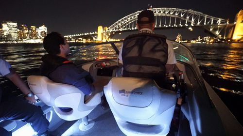 On board with the shark hunters. (9NEWS)