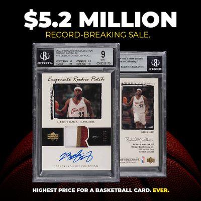 Rare basketball card sets record