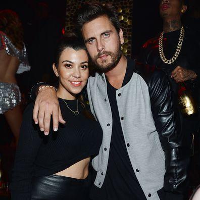 Kourtney Kardashian and Scott Disick celebrate Kim Kardashian's 33rd birthday at Tao Las Vegas on October 25, 2013 in Las Vegas, Nevada.