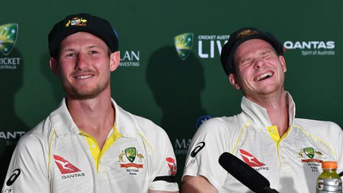 """Cameron Bancroft says Bairstow didn't knock him out because he has """"a heavy head"""". Picture: AAP"""