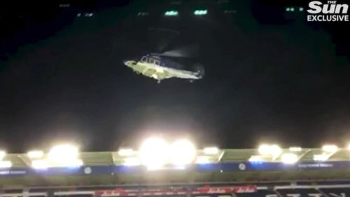 In the vision, the chopper is seen taking off slowly before entering a tail spin mid-air.