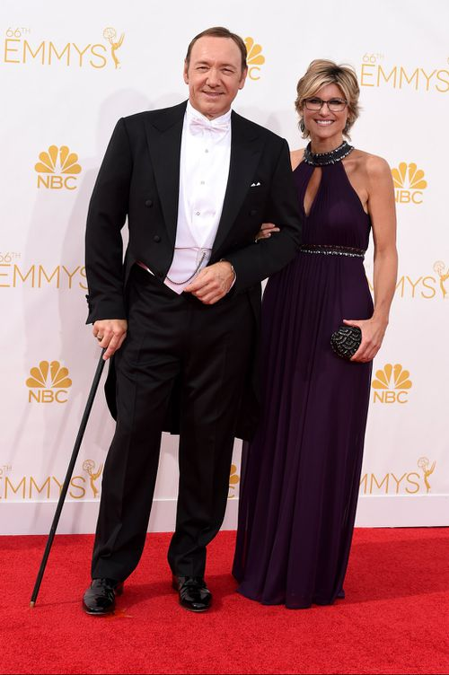 Kevin Spacey and Asheligh Banfield. (Getty Images)