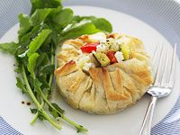Vegetable and fetta filo pies