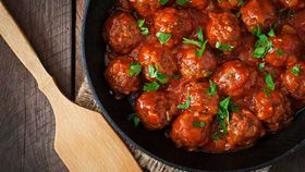 Barbecue wagyu beef meatballs