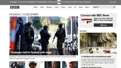 The Martin Place emergency is being covered as front page news on almost all the major news sites across the globe.