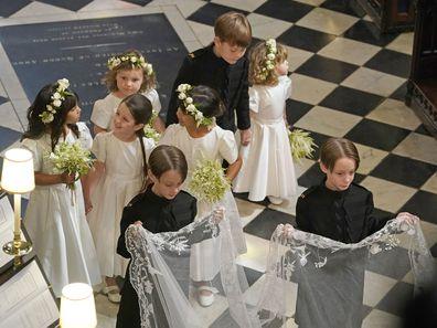 Bridal party at Prince Harry and Meghan's royal wedding