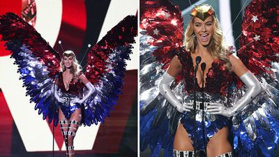 Miss USA competing in the national costume contest. (Getty)