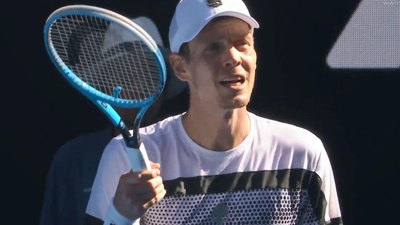 Australian Open: Tomas Berdych blows up over broken serve clock as Rafael Nadal progresses to quarterfinal