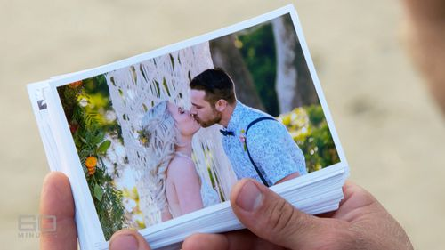 A photo from Ben and Leah's wedding day. (60 Minutes)