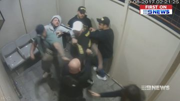 Bikies in wild strip club brawl