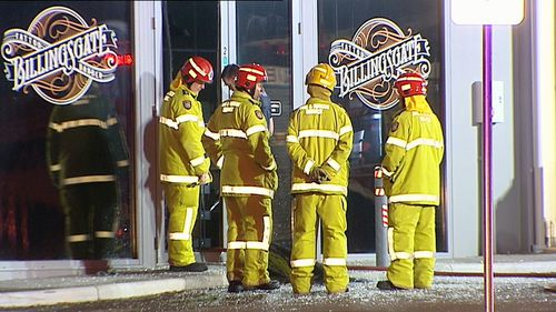 It took crews about ten minutes to put out the blaze on South Street in Beaconsfield. (9NEWS)
