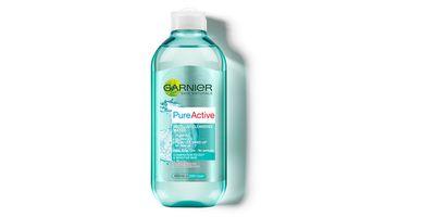 """<a href=""""https://www.priceline.com.au/brand/garnier/garnier-pure-active-micellar-water-all-in-1-400-ml"""" target=""""_blank"""">Pure Active Micellar Cleansing Water, $13.95, Garnier</a>"""