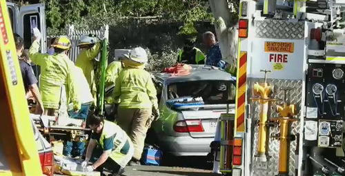 A man is dead and four others seriously injured after a crash north of Brisbane this afternoon.