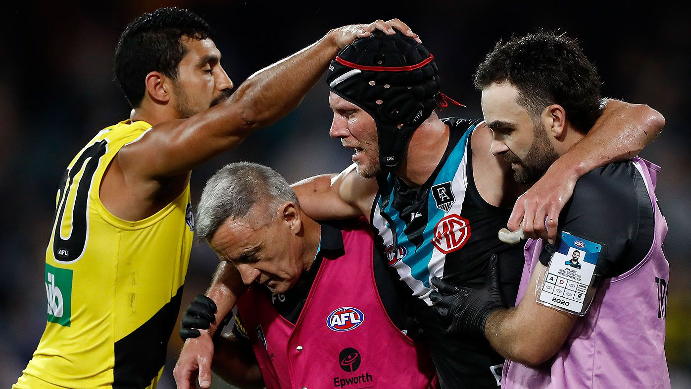Brad Ebert forced into retirement after suffering concussion in heroic final quarter spoil